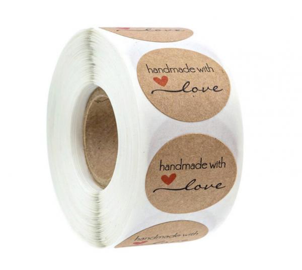 Aufkleber 'Handmade with Love' Variante 1