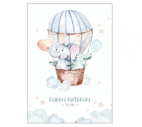 Postkarte 'Happy Birthday to you' - Variante 2