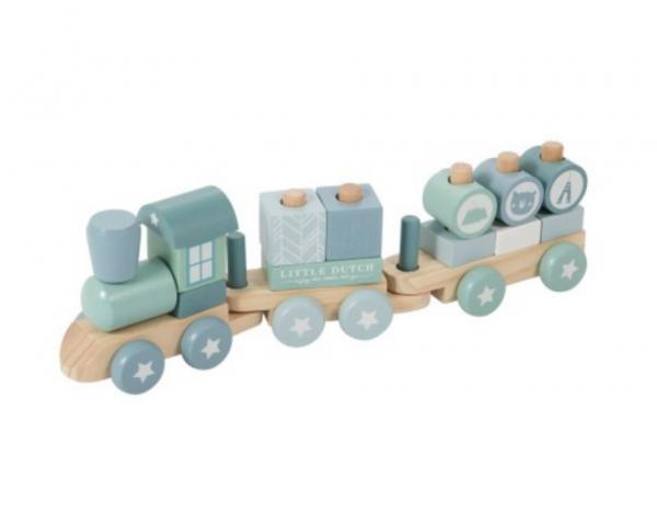 Little Dutch Holz-Eisenbahn mit Steck-Formen