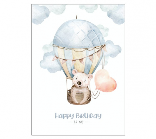 Postkarte 'Happy Birthday to you' - Variante 1