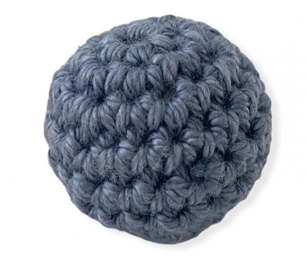 Häkelperlen 20mm - Graublau