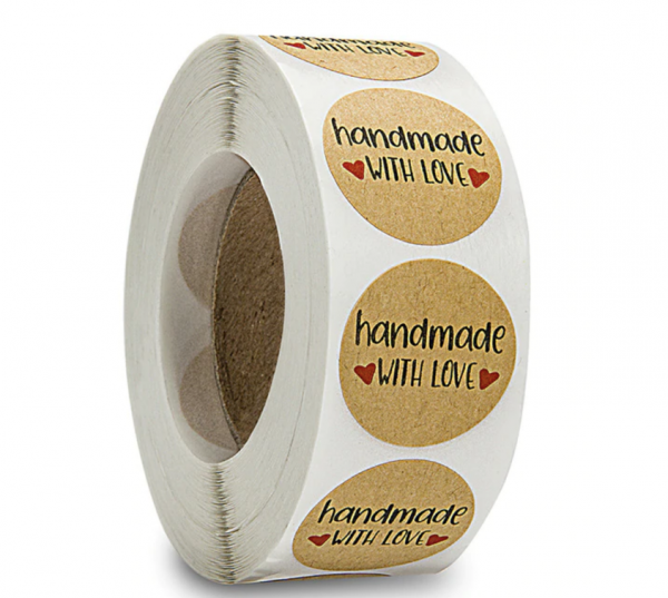 Aufkleber 'Handmade with Love' - Variante 2