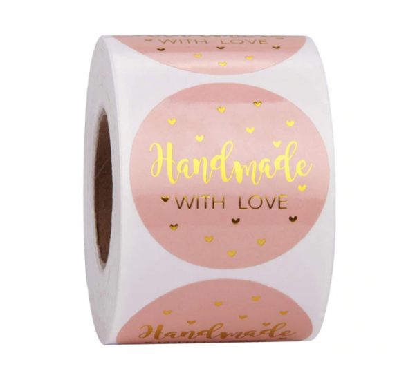 Aufkleber 'Handmade with Love' - Variante 3