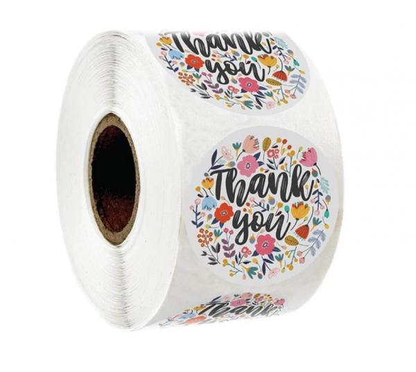 Aufkleber 'Thank you' - Variante 4